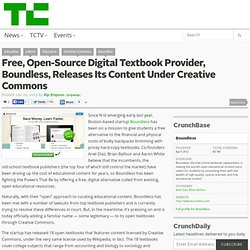 Free, Open-Source Digital Textbook Provider, Boundless, Releases Its Content Under Creative Commons
