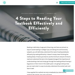 4 Steps to Reading Your Textbook Efficiently