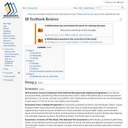 IB Textbook Reviews