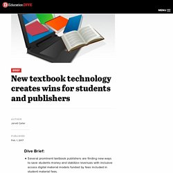 New textbook technology creates wins for students and publishers