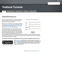 Textbook Torrents | Textbook Torrent | Free Books | Free Textbooks