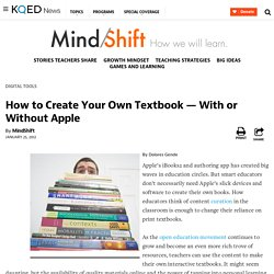 How to Create Your Own Textbook — With or Without Apple