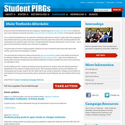 Make Textbooks Affordable | Student PIRGs
