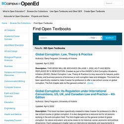 Find Open Textbooks – BCcampus OpenEd Resources