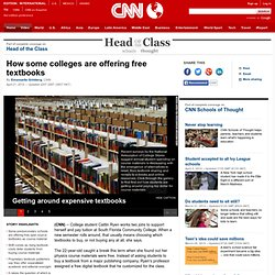 Online education resources gain footing in colleges via open textbooks