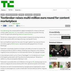 Textbroker raises multi-million euro round for content marketplace