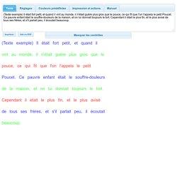 Texte en couleur