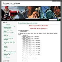 Texte ( Création d'un texte à trous ) - Trucs et Astuces Web