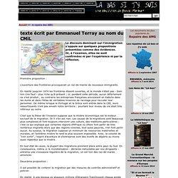 texte écrit par Emmanuel Terray au nom du CMiL