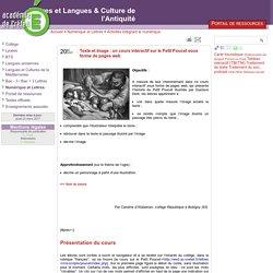 Texte et image : un cours interactif sur le Petit Poucet sous forme de pages web