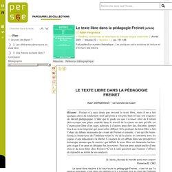 Le texte libre dans la pédagogie Freinet