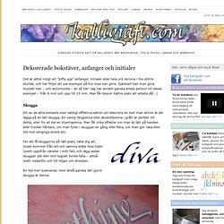 Texteffekter: dekorera handskkrivna kalligrafi initialer och anfanger