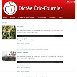 Dictée Éric-Fournier