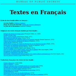 Textes en Francais