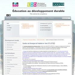 EDD : les textes - Gestion de l'énergie de l'habitat en 1ère STL/STI2D