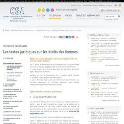 Les textes juridiques sur les droits des femmes / Les droits des femmes