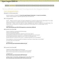 Textes officiels - Site Langues 94
