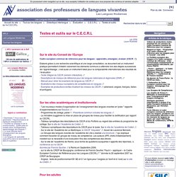Textes et outils sur le C.E.C.R.L