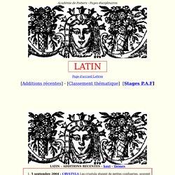 textes et programmes pour le latin