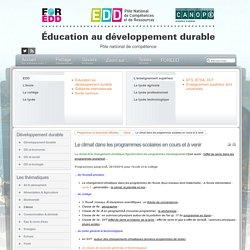 Le climat dans les programmes scolaires (en cours et à venir) Canopé EDD