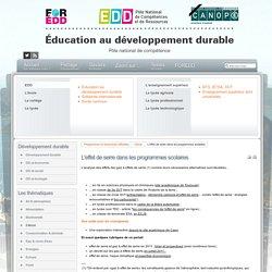 EDD : les textes - L'effet de serre dans les programmes scolaires