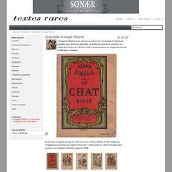 Textes rares - Chat botté et Image d'Épinal