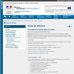 Textes de référence — Documentation (CDI)