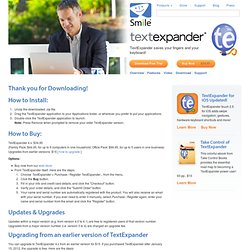 TextExpander Download Thanks