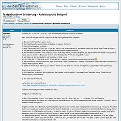 Textgebundene Erörterung - Anleitung und Beispiel