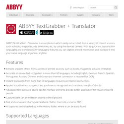 ABBYY TextGrabber + Translator - mobile OCR and full-text translation