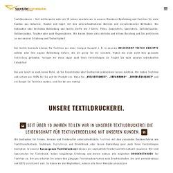 Textildruckerei - Textildruck auf Kleidung & Accessoires