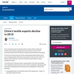 China's textile exports decline in 2015