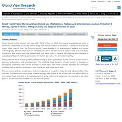Global Smart Textiles Industry Trends And Market Segment Forecasts To 2020 - Worldwide Smart Textiles Market, Outlook, Size, Share, Growth Prospects, Key Opportunities, Dynamics, Analysis, Sales, Company Profiles, Smart Textiles Report - Grand View Resear