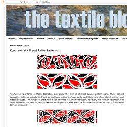 the textile blog: Kowhaiwhai - Maori Rafter Patterns
