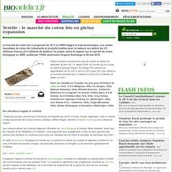 Textile : le marché du coton bio en pleine expansion