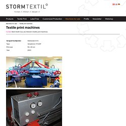 Textile print machines