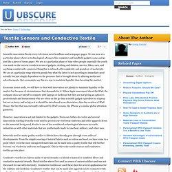 Textile Sensors and Conductive Textile