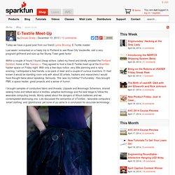 E-Textile Meet-Up - News