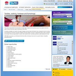 TAFE NSW - Textiles, clothing, footwear and furnishings