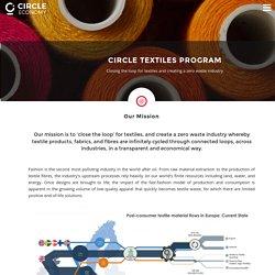 Circle Textiles Program – Circle Economy