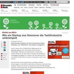 Kleider aus Milch: Wie ein Startup aus Hannover die Textilindustrie umkrempelt