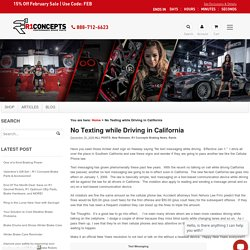 No Texting while Driving in California - Blog