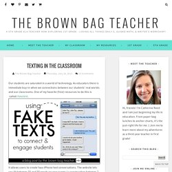 Texting in the Classroom - The Brown Bag Teacher