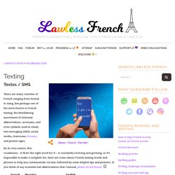 Texting in French - SMS - Les textos