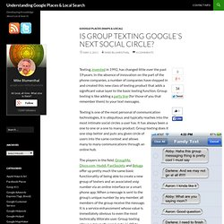 Is Group Texting Google's Next Social Circle?