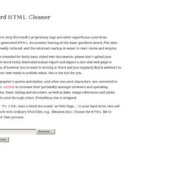 Word HTML Cleaner