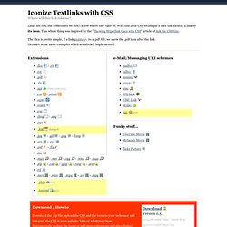 Iconize Textlinks with CSS - pooliestudios