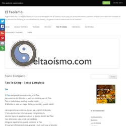 Texto Completo - El Taoísmo