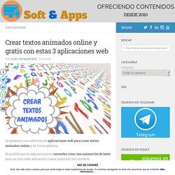 Crear textos animados online y gratis con estas 3 aplicaciones web