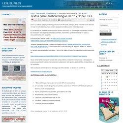 Textos para Plástica bilingüe de 1º y 3º de ESO